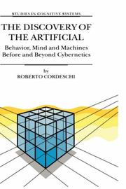 Cover of: The Discovery of the Artificial | R. Cordeschi