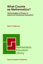 Cover of: What Counts as Mathematics? | Gail E. FitzSimons