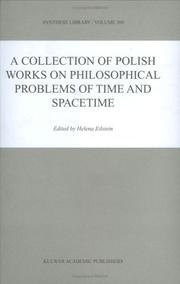 Cover of: A Collection of Polish Works on Philosophical Problems of Time and Spacetime
