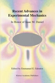 Cover of: Recent Advances in Experimental Mechanics