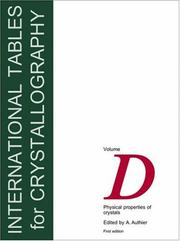 Cover of: International Tables for Crystallography,Volume D