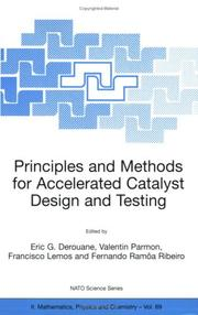 Cover of: Principles and methods for accelerated catalyst design and testing