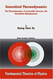Cover of: Generalized Thermodynamics
