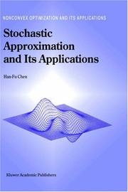 Cover of: Stochastic Approximation and Its Application (Nonconvex Optimization and Its Applications)