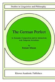 Cover of: German perfect | Renate Musan