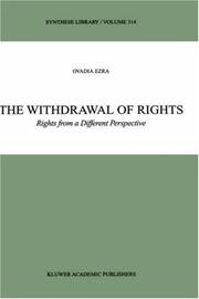 Cover of: The Withdrawal of Rights