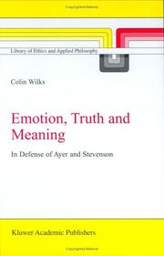 Cover of: Emotion, Truth and Meaning