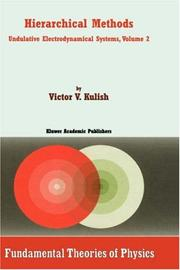 Cover of: Hierarchical Methods | V. Kulish