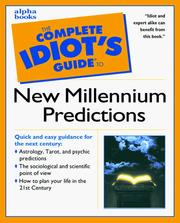 Complete Idiots Guide to New Millennium Predi (The Complete Idiots Guide)