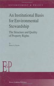 Cover of: institutional basis for environmental stewardship | Doris A. Fuchs