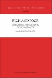 Cover of: Rich and Poor | Wolfgang Glatzer