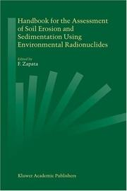 Cover of: Handbook for the Assessment of Soil Erosion and Sedimentation Using Environmental Radionuclides