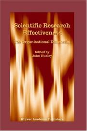 Cover of: Scientific Research Effectiveness