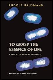 Cover of: To Grasp the Essence of Life