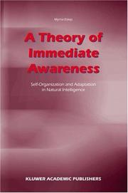 Cover of: A theory of immediate awareness | Myrna Estep
