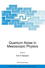 Cover of: Quantum Noise in Mesoscopic Physics
