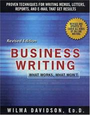 Cover of: Business writing
