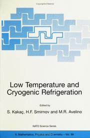 Cover of: Low Temperature and Cryogenic Refrigeration (Nato Science) |