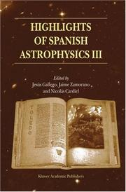 Cover of: Highlights of Spanish astrophysics III