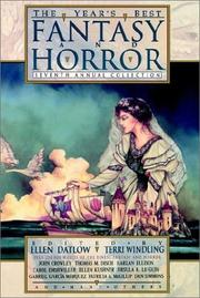Cover of: The Year's Best Fantasy and Horror