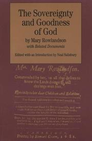 Cover of: The sovereignty and goodness of God