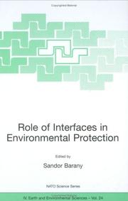 Cover of: Role of Interfaces in Environmental Protection