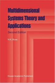 Cover of: Multidimensional systems theory and applications |