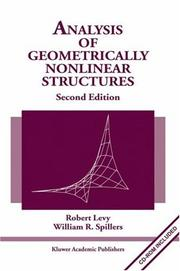 Cover of: Analysis of geometrically nonlinear structures