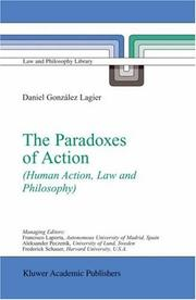 Cover of: The Paradoxes of Action