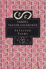 Cover of: Selected poems by Samuel Taylor Coleridge