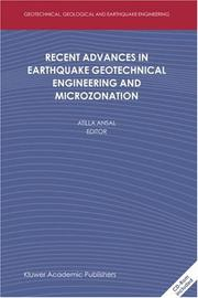 Cover of: Recent Advances in Earthquake Geotechnical Engineering and Microzonation (Geotechnical, Geological, and Earthquake Engineering)