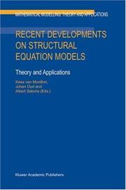 Cover of: Recent Developments on Structural Equation Models: Theory and Applications (Mathematical Modelling: Theory and Applications) |