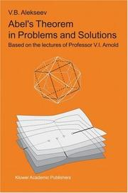 Cover of: Abel's Theorem in Problems and Solutions