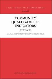 Cover of: Community quality-of-life indicators