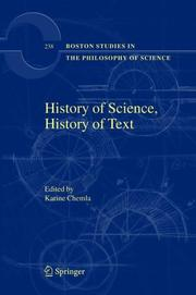 Cover of: History of Science, History of Text (Boston Studies in the Philosophy of Science)