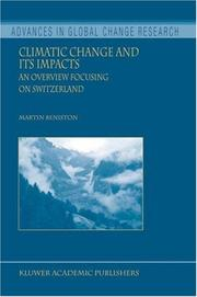 Cover of: Climatic Change and its Impacts