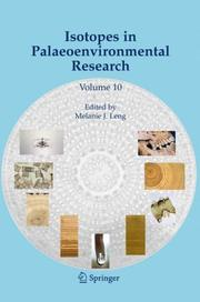 Cover of: Isotopes in Palaeoenvironmental Research (Developments in Paleoenvironmental Research)