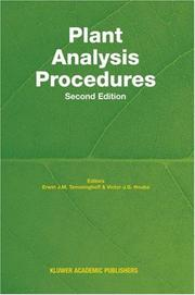 Cover of: Plant Analysis