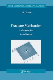 Cover of: Fracture Mechanics