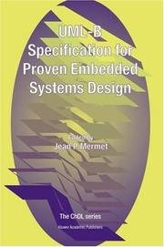 Cover of: UML-B Specification for Proven Embedded Systems Design