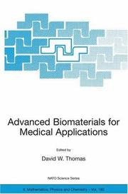 Cover of: Advanced Biomaterials for Medical Applications