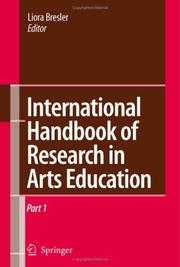 Cover of: International Handbook of Research in Arts Education