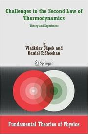 Cover of: Challenges to the second law of thermodynamics | Vladislav CaМЃpek