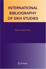 Cover of: International Bibliography of Sikh Studies
