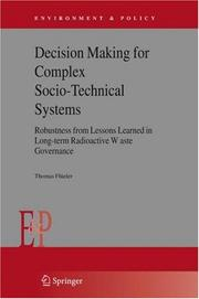 Cover of: Decision Making for Complex Socio-Technical Systems