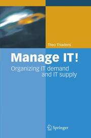 Cover of: Manage IT!