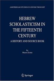 Cover of: Hebrew Scholasticism in the Fifteenth Century | Mauro Zonta