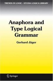 Cover of: Anaphora and Type Logical Grammar (Trends in Logic)