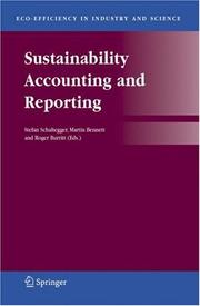 Cover of: Sustainability Accounting and Reporting (Eco-Efficiency in Industry and Science) |