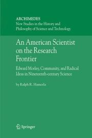 Cover of: An American Scientist on the Research Frontier